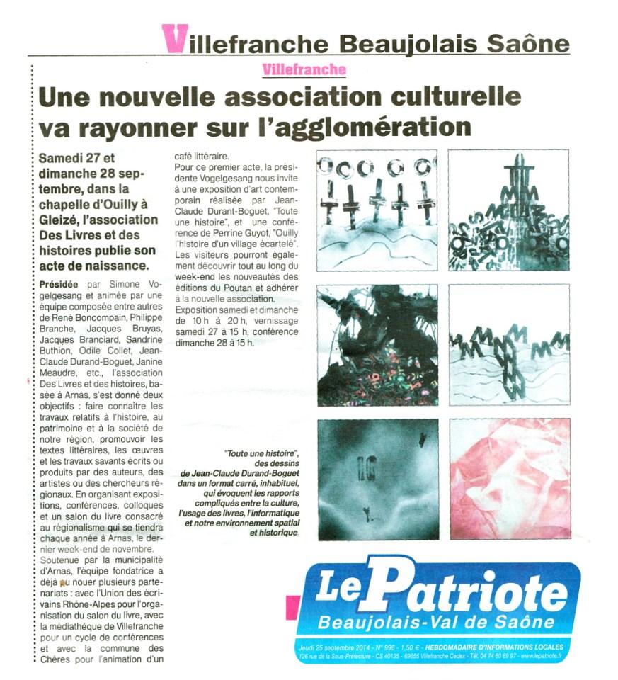 le patriote beaujolais 140925