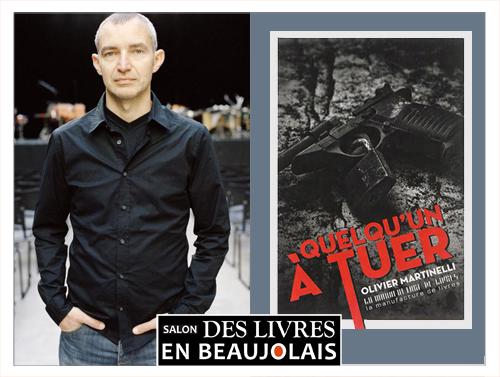 Olivier Martinelli invité du 3e salon Des Livres en Beaujolais