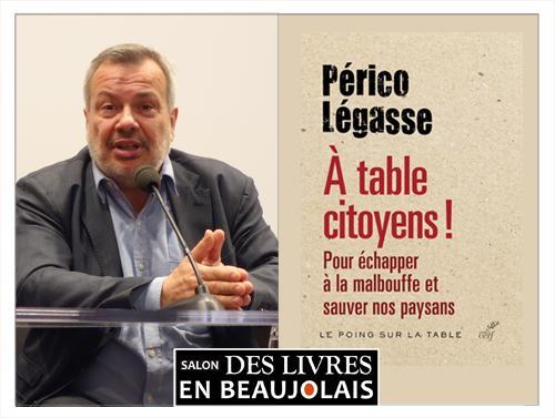 Périco Légasse invité du 3e salon Des Livres en Beaujolais