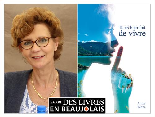 Annie Blanc invitée du 3e salon Des Livres en Beaujolais