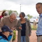 Expo Marc Pabois à Arnas - Visite d'André Robillard