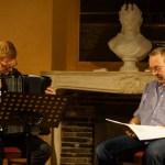 Jean Luc Brunetti, accordéoniste et  Fabien Boseggia, comédien