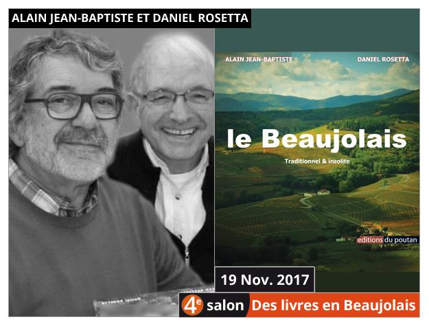 Alain Jean-Baptiste et Daniel Rosetta invités du 4e salon Des Livres en Beaujolais