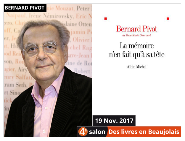 Bernard Pivot invité du 4e salon Des Livres en Beaujolais
