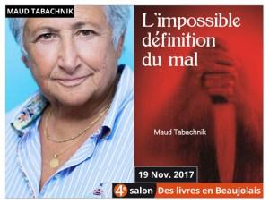 Maud Tabachnik marraine du 4e salon Des Livres en Beaujolais