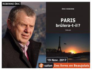 Eric Robinne invité d'honneur du 4e salon Des Livres en Beaujolais