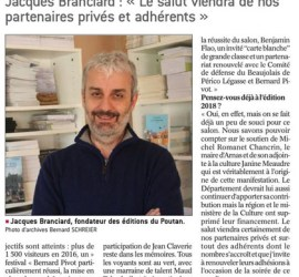 Jacques Branciard Le salut viendra des partenaires du salon des livres LeProgres171029_A_la_une