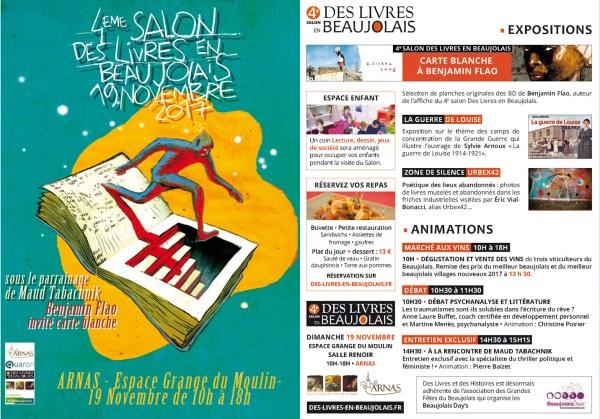 Programme du 4e salon Des Livres en Beaujolais - 1