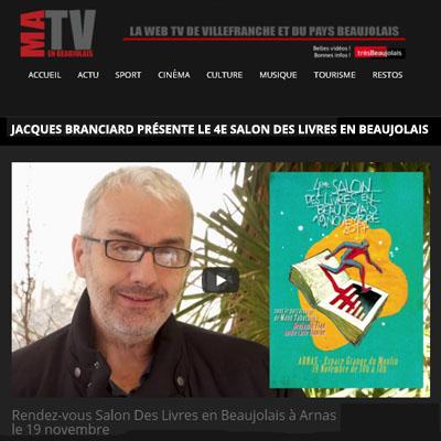 Jacques branciard ma tv en beaujolais