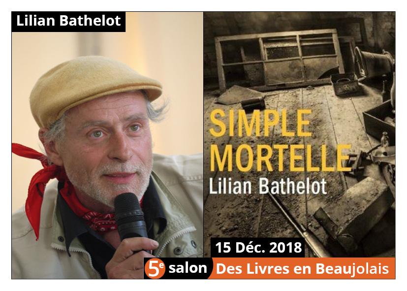 Lilian Bathelot invité d'honneur du 5e salon Des Livres en Beaujolais