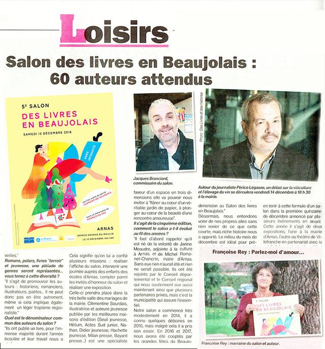 5e Salon des livres en Beaujolais : 60 auteurs attendus - Le Patriote
