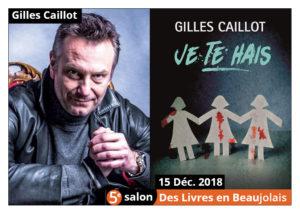 Gilles Caillot invité d'honneur du 5e salon Des Livres en Beaujolais