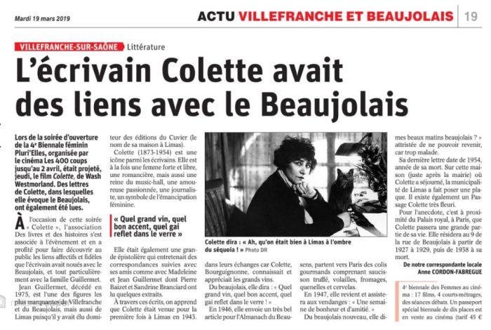 Colette beaujolais le progres 190319
