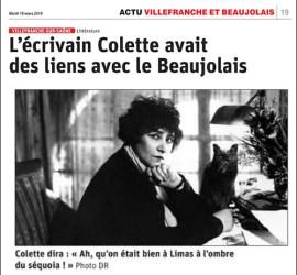 Colette beaujolais le progres 190319 vignette