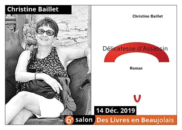 Christine Baillet - 6e Salon des Livres en Beaujolais 2019