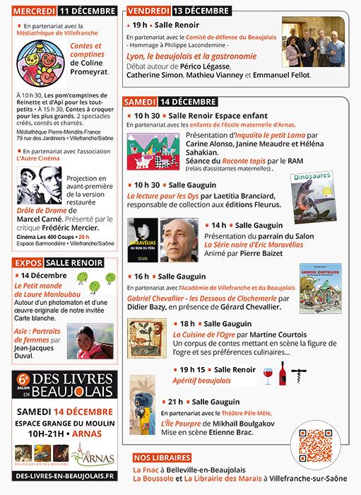 6e Salon Des Livres en beaujolais, découvrez le programme !
