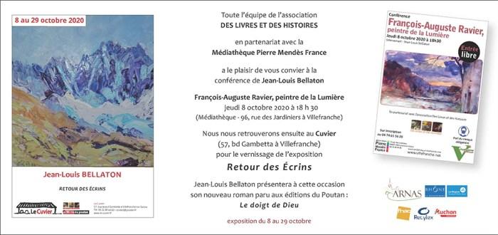 8 au 29 octobre, Retour des écrins, exposition de Jean-Louis Bellaton au Cuvier