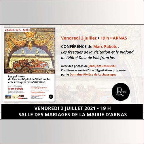 Conférence de Marc Pabois : Les fresques de la Visitation et le plafond de l'Hôtel Dieu de Villefranche