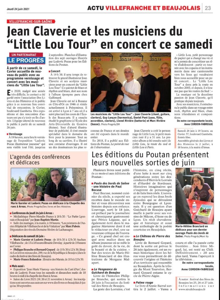 """Jean Claverie et les musiciens du """"Little Lou Tour"""" en concert ce samedi"""