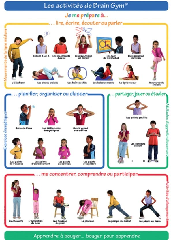 exercices de Brain Gym
