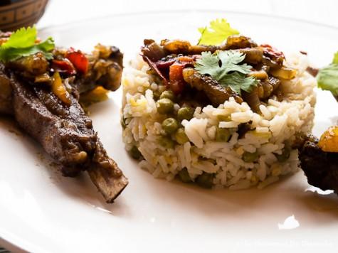 Côtelettes d'agneau sauce curry