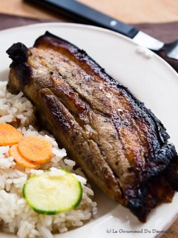 Poitrine de porc croustillante