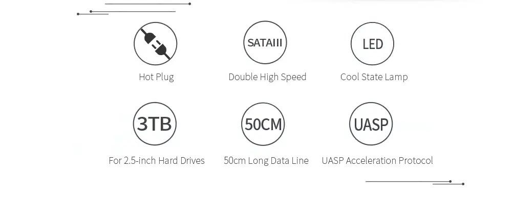 2018 ORICO 2139U3 2.5 inch Transparent Hard Drive