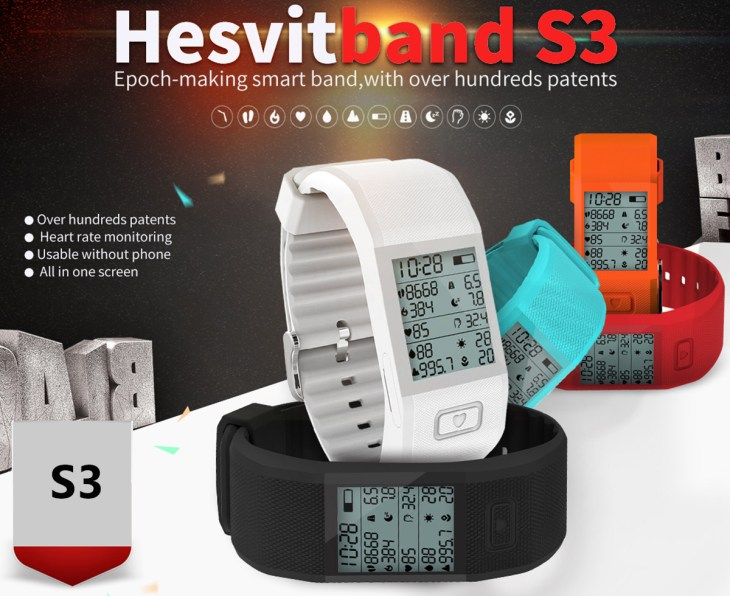 Hesvit S3 Smart Hesvitband Wrist Temperature Tracking Wristband- Blue