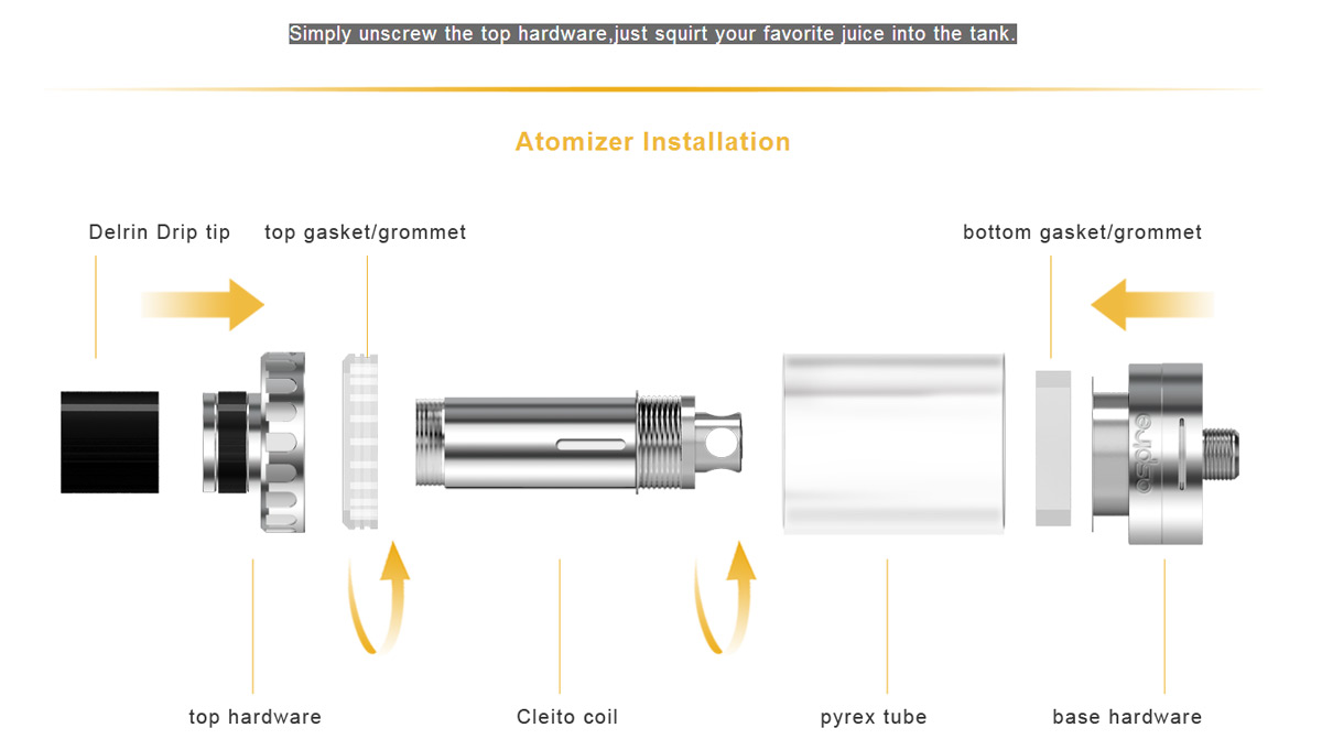 hight resolution of original aspire cleito sub ohm tank clearomizer with 3 5ml capacity 0 2ohm