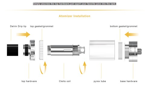 small resolution of original aspire cleito sub ohm tank clearomizer with 3 5ml capacity 0 2ohm