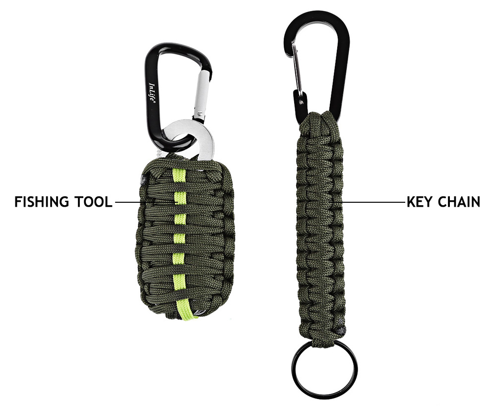 Inlife Emergency Paracord Outdoor Utility Fishing Tools