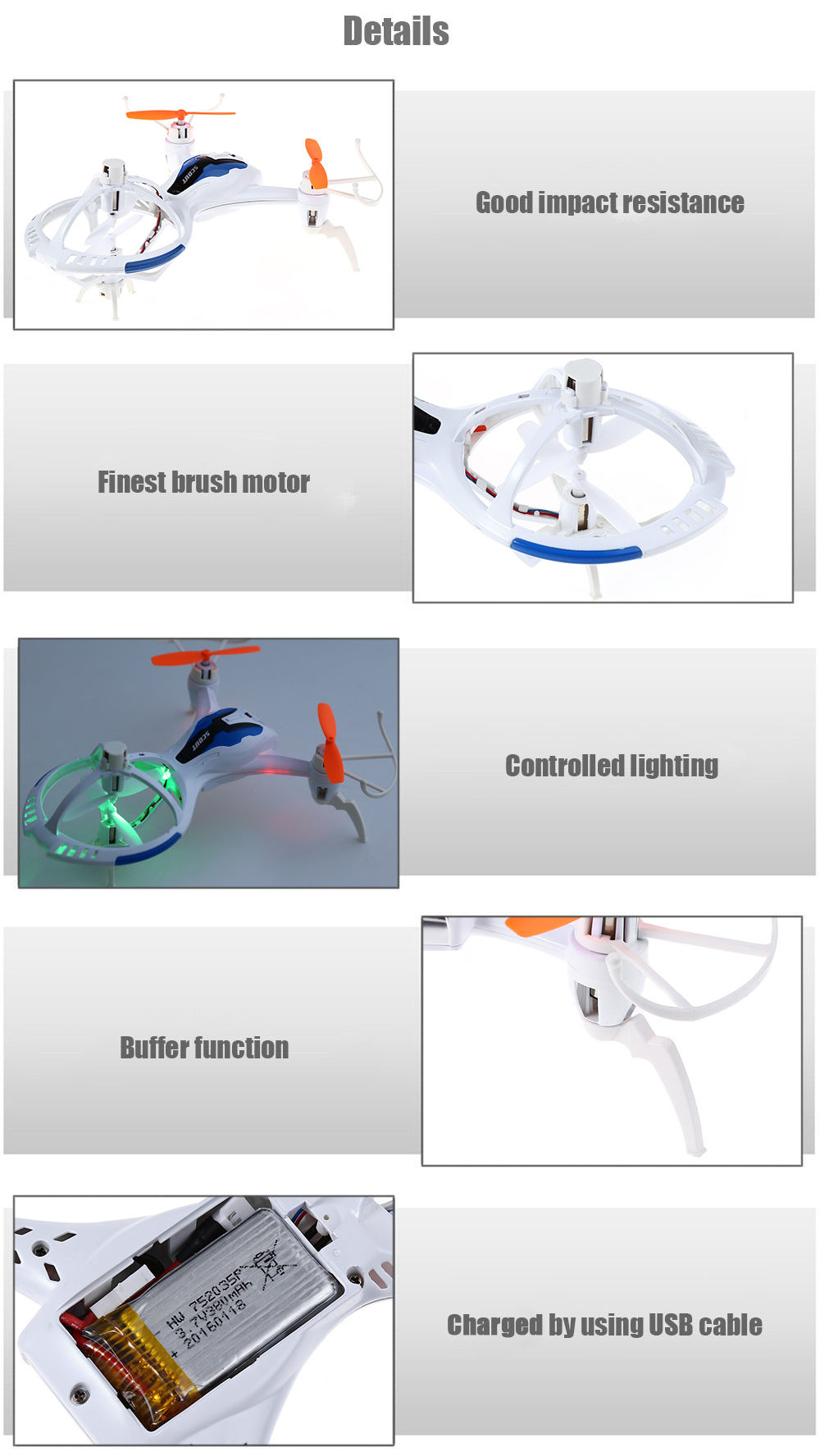 hight resolution of skytech m71 2 4g 4ch 6 axis gyro rtf remote control tricopter aircraft toy