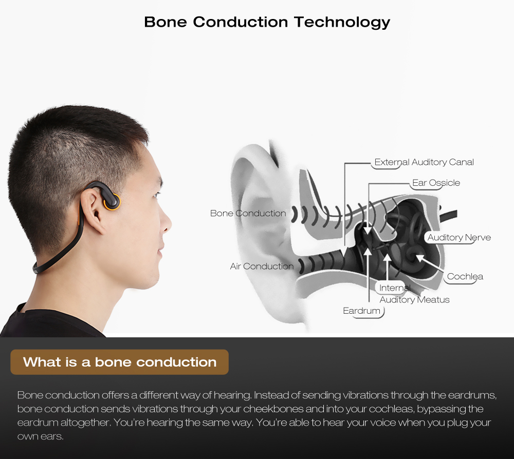 hight resolution of signet bt bk bluetooth 4 1 open ear bone conduction headphones noise canceling headband with