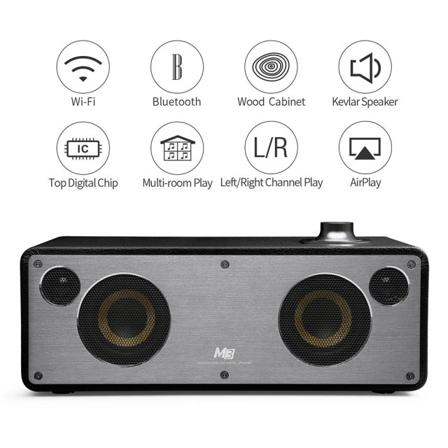 GGMM WS - 301 M3 WiFi Bluetooth Dual Wireless Connection Speaker Home Hi-Fi Music Player