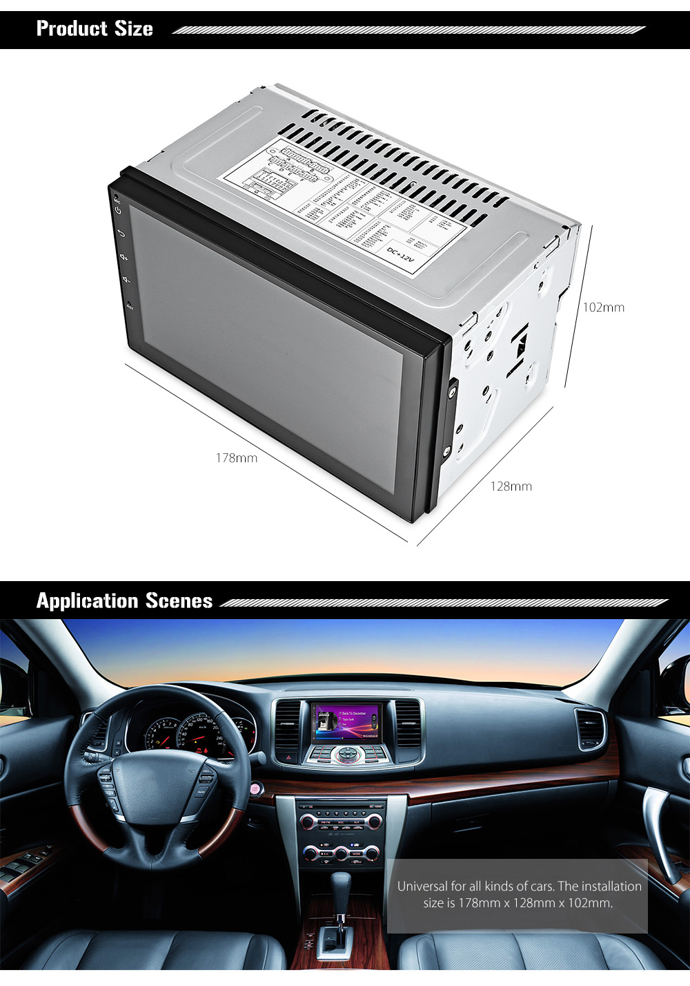 hight resolution of universal 7003 android 6 0 with bluetooth gps wifi car multimedia player 7 inch capacitive touch screen