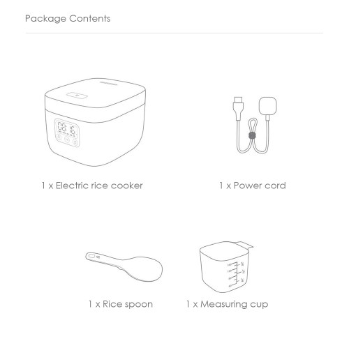 small resolution of xiaomi 1 6l home rice cooker portable electric cooking equipment white chinese plug 3