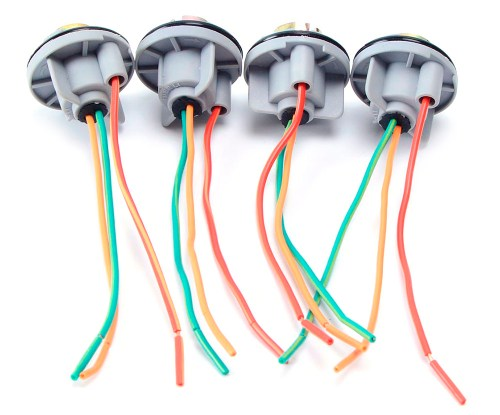 small resolution of 4pcs 1157 bulb socket line for car modification gray