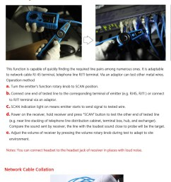 bside fwt11 handheld rj45 rj11 network telephone cable tester wire line tracker blue and black [ 1000 x 2952 Pixel ]