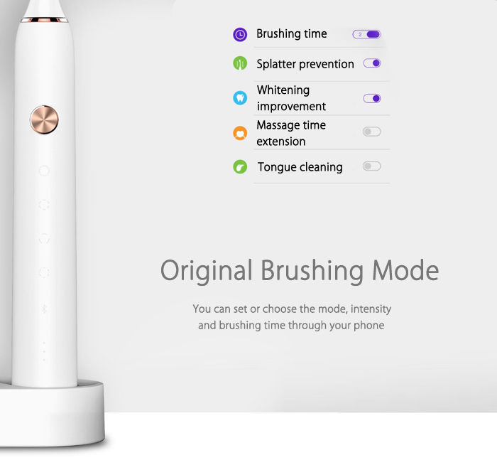 SOOCAS / SOOCARE X3 Rechargeable Sonic Electric Toothbrush Bluetooth Connectivity