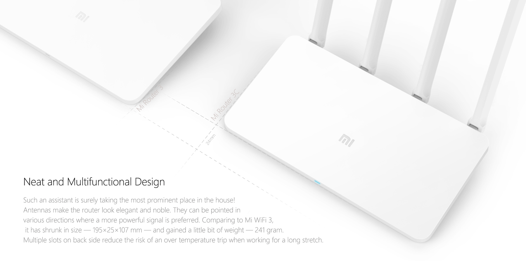 Mi 300Mbps WiFi Router 3C 16MB Rom 64MB RAM 2.4GHz MiWiFi