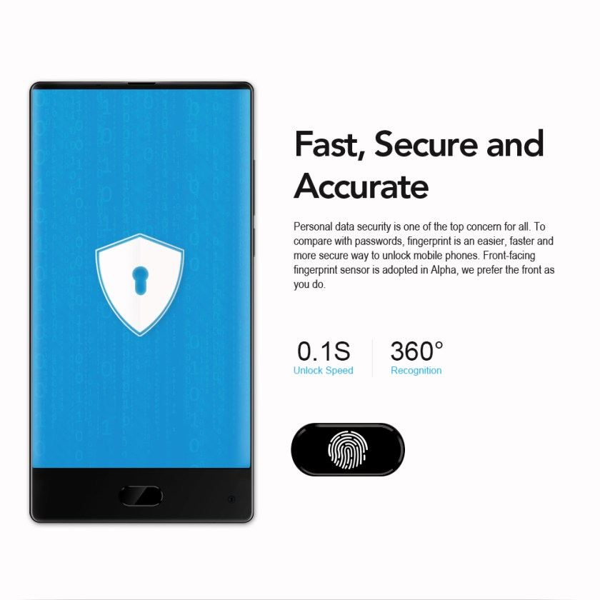 MAZE Alpha 4G Phablet Android 7.0 6.0 inch Bezel-less Screen Helio P25 Octa Core 2.5GHz 4GB RAM 64GB ROM 13.0MP + 5.0MP Rear Cameras 4000mAh Battery Type-C