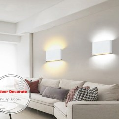 Wall Lamps Living Room Asian Decor 6w Led Light Up Down Stair Bedside Lamp Bedroom Reading Porch