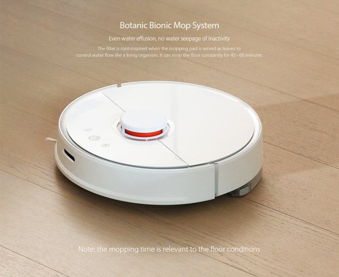 roborock S50 Smart Vacuum Cleaner with Intelligent Sensors System Path Planning- White CN PLUG
