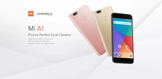 XIAOMI Mi A1 4G Phablet Global Version 5.5 inch Android One Snapdragon 625 2.0GHz Octa Core 4GB RAM 64GB ROM 3080mAh Battery Dual 12.0MP Zoom Lens Fingerprint Scanner