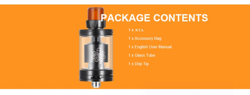 Cthulhu Hastur MTL RTA with Adjust Bottom Airflow / 25mm Diameters for E Cigarette