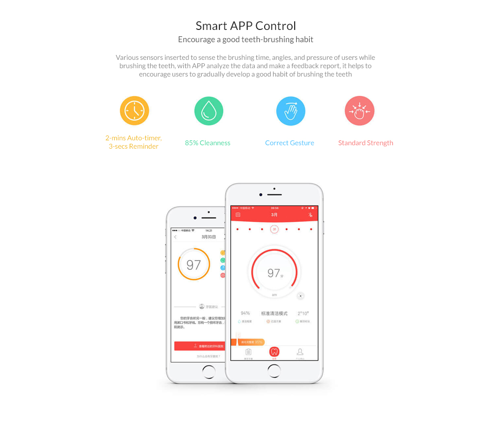 Original Xiaomi Oclean SE Rechargeable Sonic Electrical Toothbrush International Version APP Control Intelligent Dental Health Care for Adult