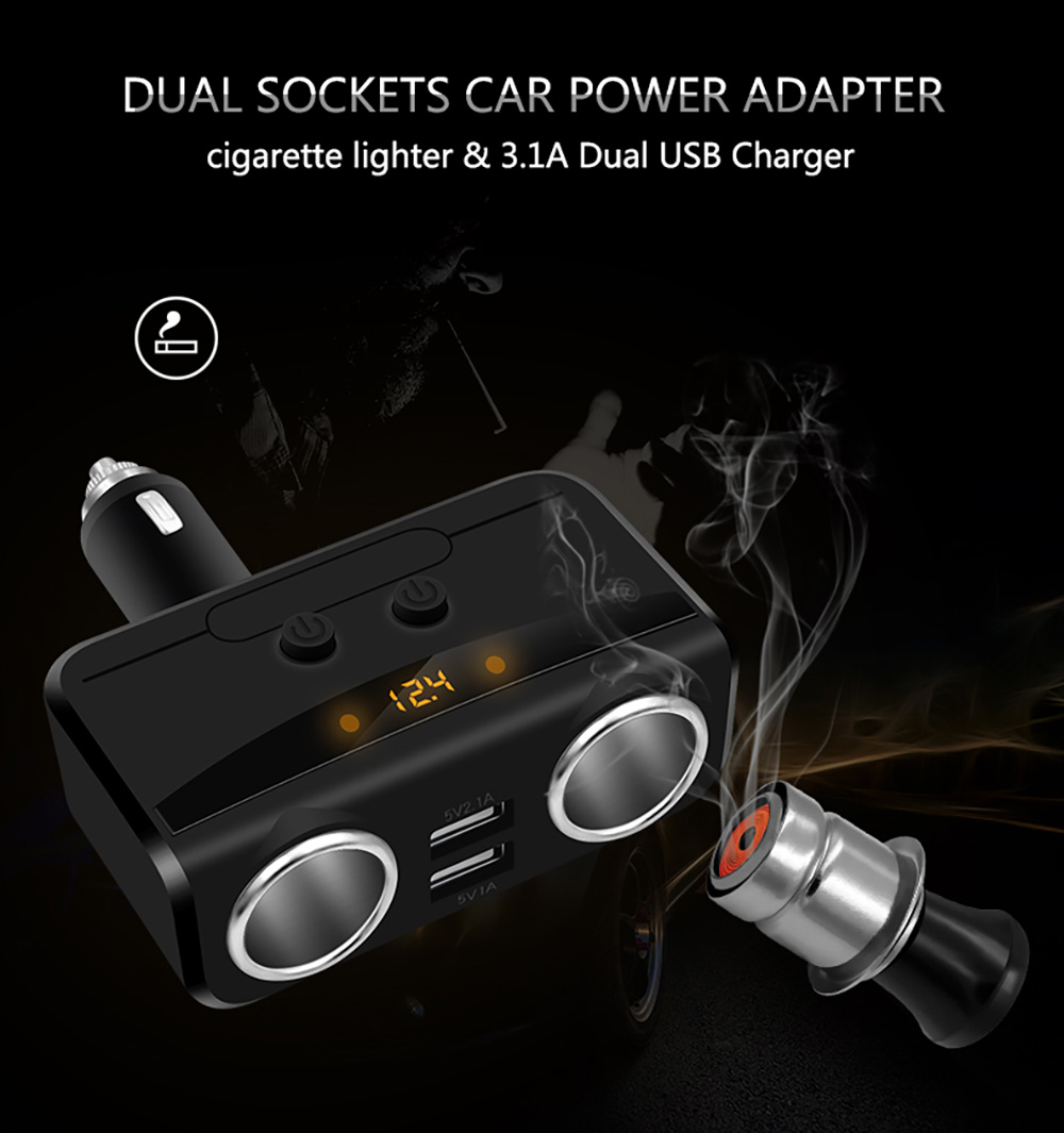 medium resolution of modern style car charger car cigarette lighter dual usb car charger intelligent fast charging head