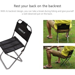 Lightweight Folding Chairs Hiking Lifetime Chair Parts Outdoor Portable Compact 18 41 Free For Camping Traveling Black