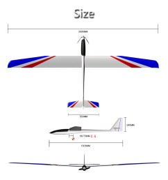 2695mm large wingspan rc airplane glider kit version white [ 1000 x 886 Pixel ]