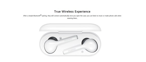 Original HUAWEI CM - H1 FreeBuds Wireless Earphone Bluetooth Touch Earphone with Mic- White